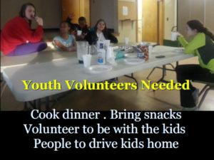 Youth Volunteers Needed