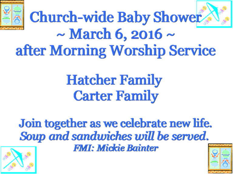 Baby Shower – March 6, 2016