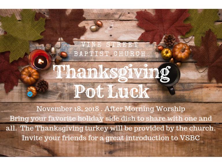 Thanksgiving Pot Luck Luncheon